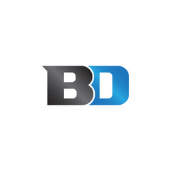unique sign initials name BD Lettermark