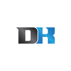 initials name DK Lettermark
