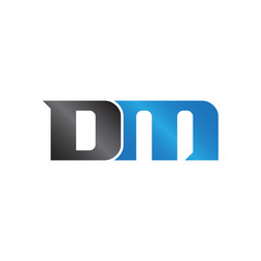 initials name DM Lettermark