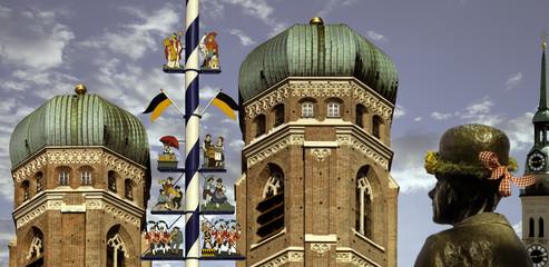 Frauenkirche,sehenswürdigkeit Maibaum,viktualienmarkt,Kirche, Karl valentin,München