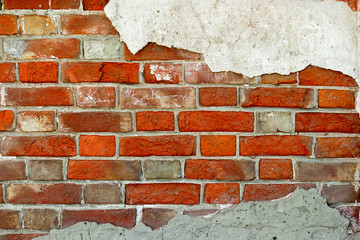 Old brick wall, bright color, a lot of space for text