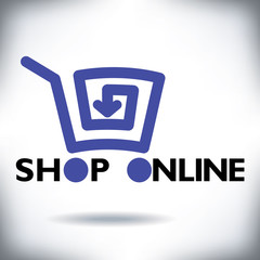 Refreshingly new online shopping cart icon for Print or Web