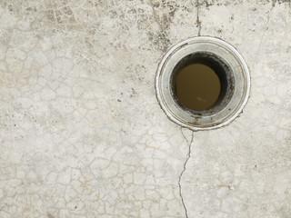 Cracks on the cement floor