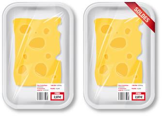 Barquette blanche de fromage