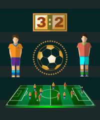 Soccer Match Scoreboard and Players