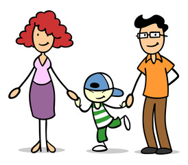Pflegefamilie mit Pflegekind