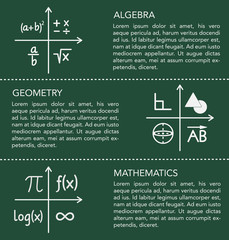 Mathematics template on chalkboard background.