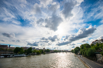 Seine river,paris,landscape of France