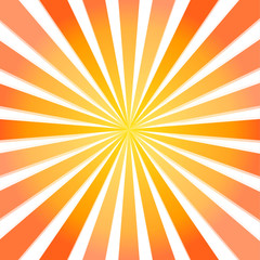 Fullscreen vector sun beam from center to the edges (yellow to d