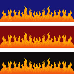 vector graphic flames