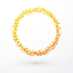 yellow orange circle of dots