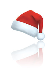 Santa clause hat vector