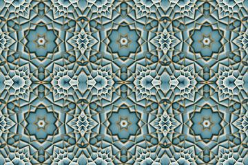 Mozaika turkusowo-złota