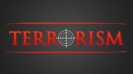 Terrorism - hairline cross