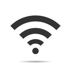 Wireless Icon, vector illustration. Wifi Flat design style. With Shadow
