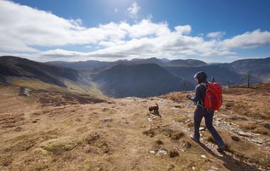 Hiking in the Lake District, UK.