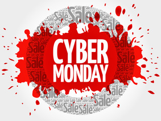 Cyber Monday word cloud, business concept background