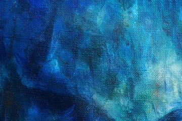 Blue abstract color Backgrounds, painting on canvas.
