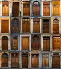 Collage of greek doors