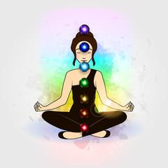Aura and chakra, meditation.