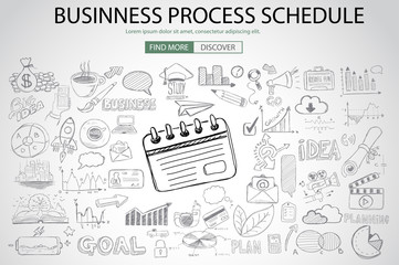 Business Process Schedule with Doodle design style