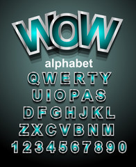 Funny Colorful Alphapet Font to use for children's parties invitations