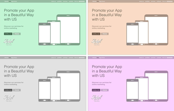 One Page Clear Modern Website template for an App showcase