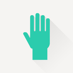 hand vector flat icon
