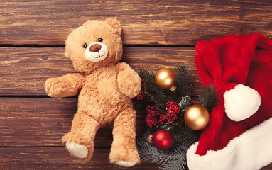 Teddy bear toy and christmas gifts