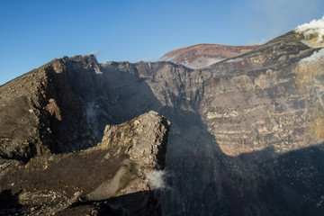 The summit craters of the Etna volcano