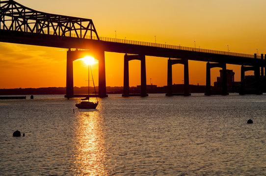 Braga Bridge sunset