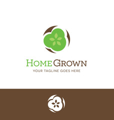 abstract vegetable logo for food or agricultural business, website