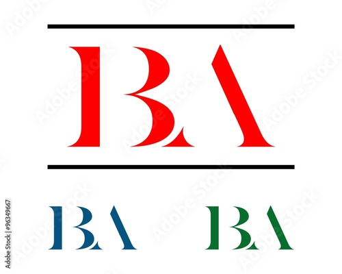 b a letter logo v 2 stock image and royalty free vector files on
