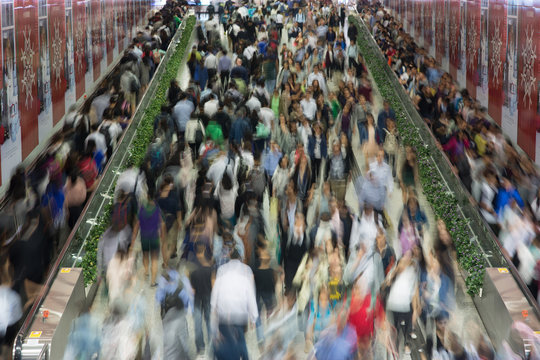 Crowded People in the Asia city - Hong Kong