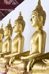 Row of Buddha statue