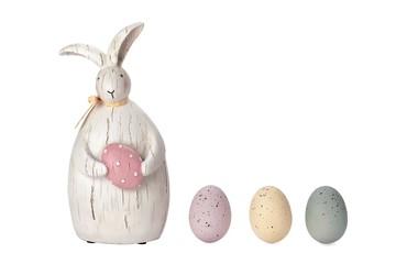 bunny figurine and eggs