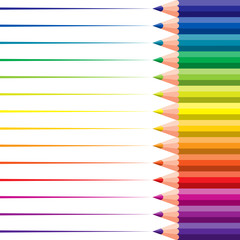 colored pencils - vector illustration