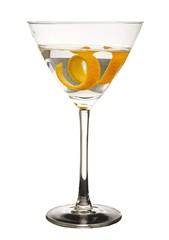 orange peel in martini