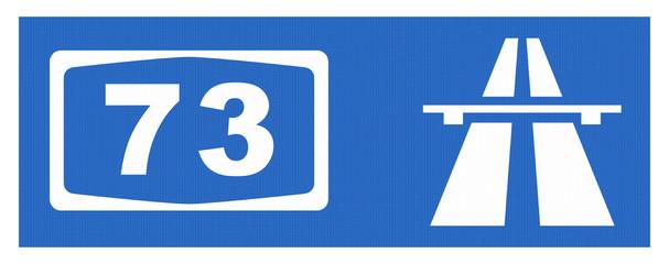 A 73-Symbol mit Reflektierung