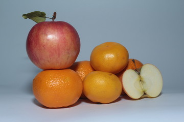 Apple Tangerines Fruit