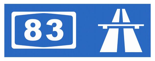 A 83-Symbol mit Reflektierung