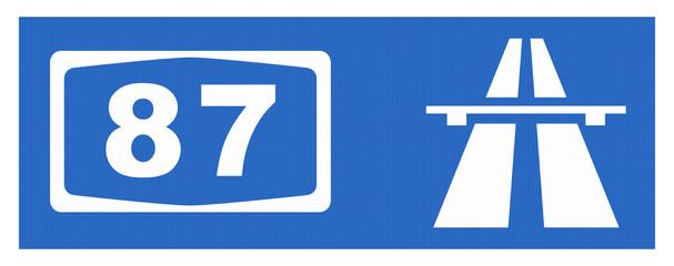 A 87-Symbol mit Reflektierung