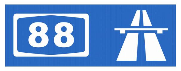 A 88-Symbol mit Reflektierung