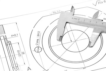 Measuring and drawing instruments in the drawings