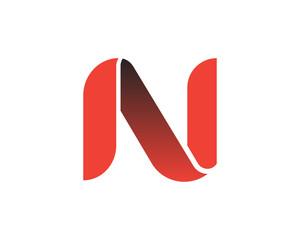 N Red Ribon letter Logo
