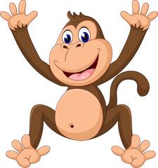 cute Cartoon monkey of illustration