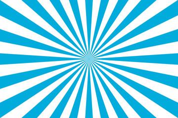 sunburst retro rays illlustration in blue