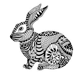 Vector Zentangle Rabbit