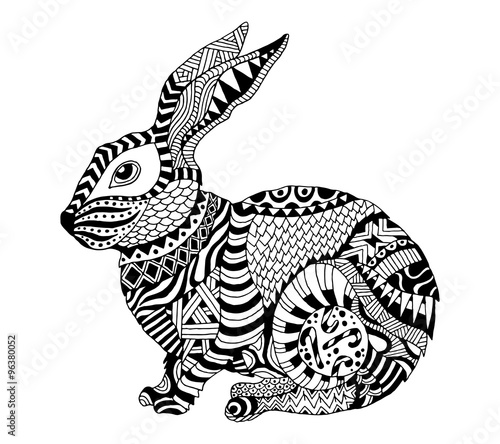 Quot Vector Zentangle Rabbit Quot Stock Image And Royalty Free