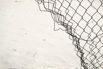 Broken Chain Link Fence